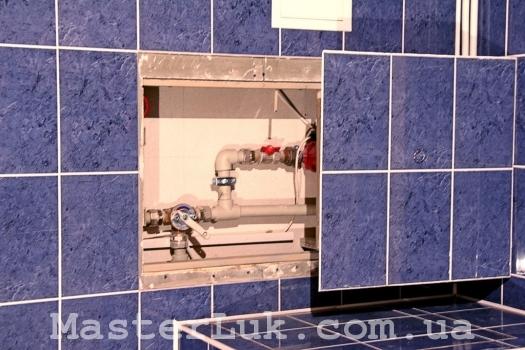 люк сантехнический под плитку сдвижной